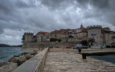 Korčula in the off season: A quiet town with imposing fortified walls