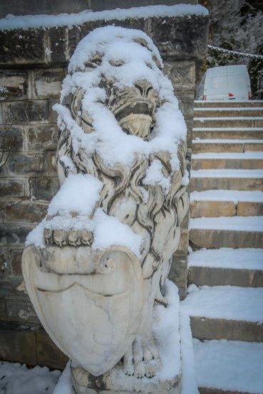 Statue at Peleș Castle.