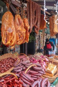 Food stall in Bran Village.
