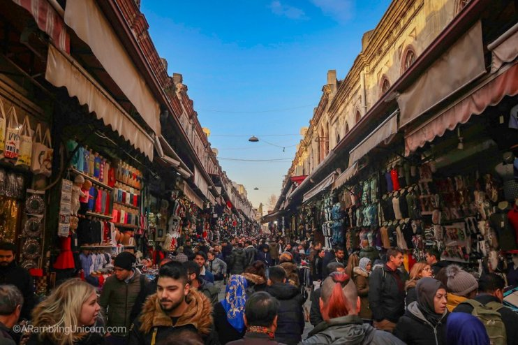 The road outside the The Grand Bazaar