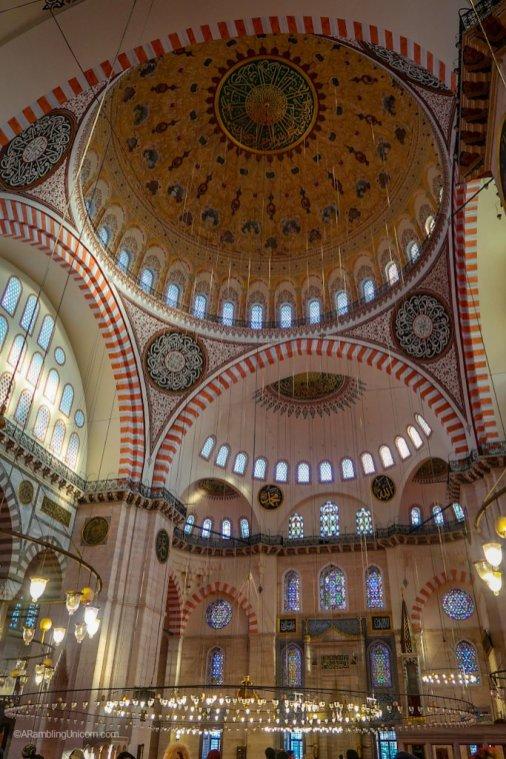 Inside the Süleymaniye Mosque