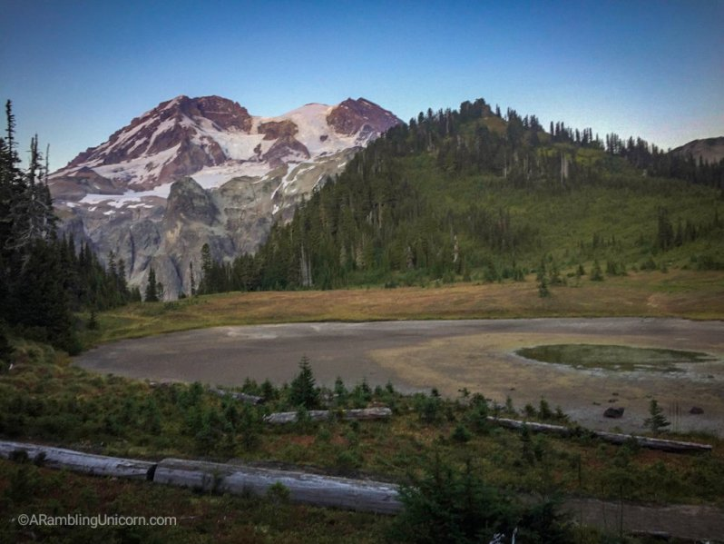 A photo of Mt. Rainier from my Wonderland Trail Blog