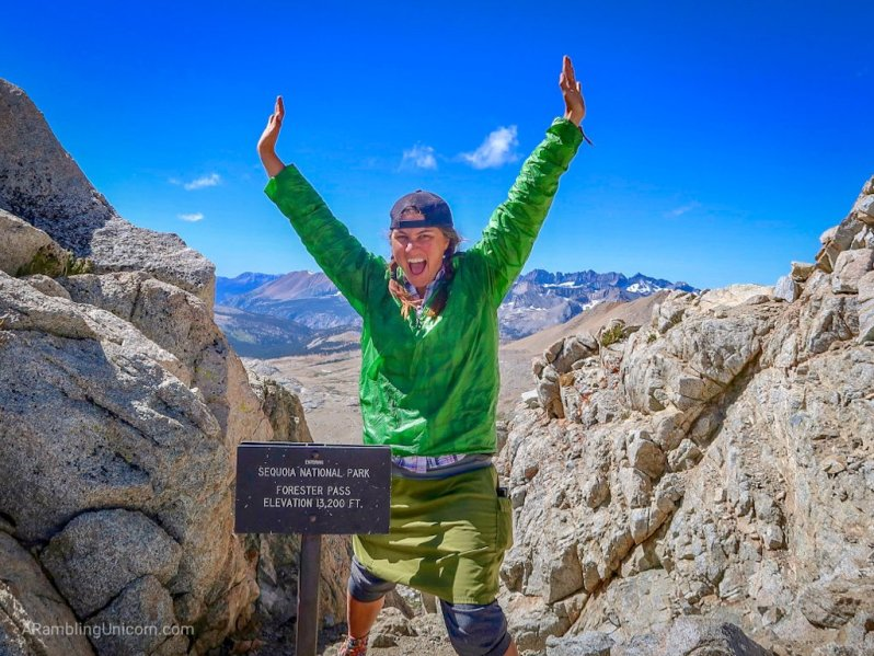 Unicorn's Pacific Crest Trail Blog: At the top of Forester Pass, the highest point on the PCT