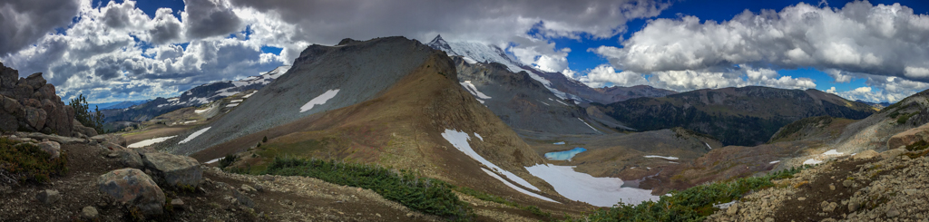A panorama photo from my Wonderland Trail Blog