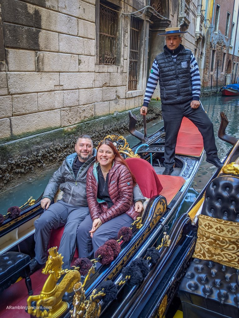 A boat ride in Venice on February 12, 2020 (Daniel's birthday) - before the beginning of the Coronavirus Outbreak in Italy