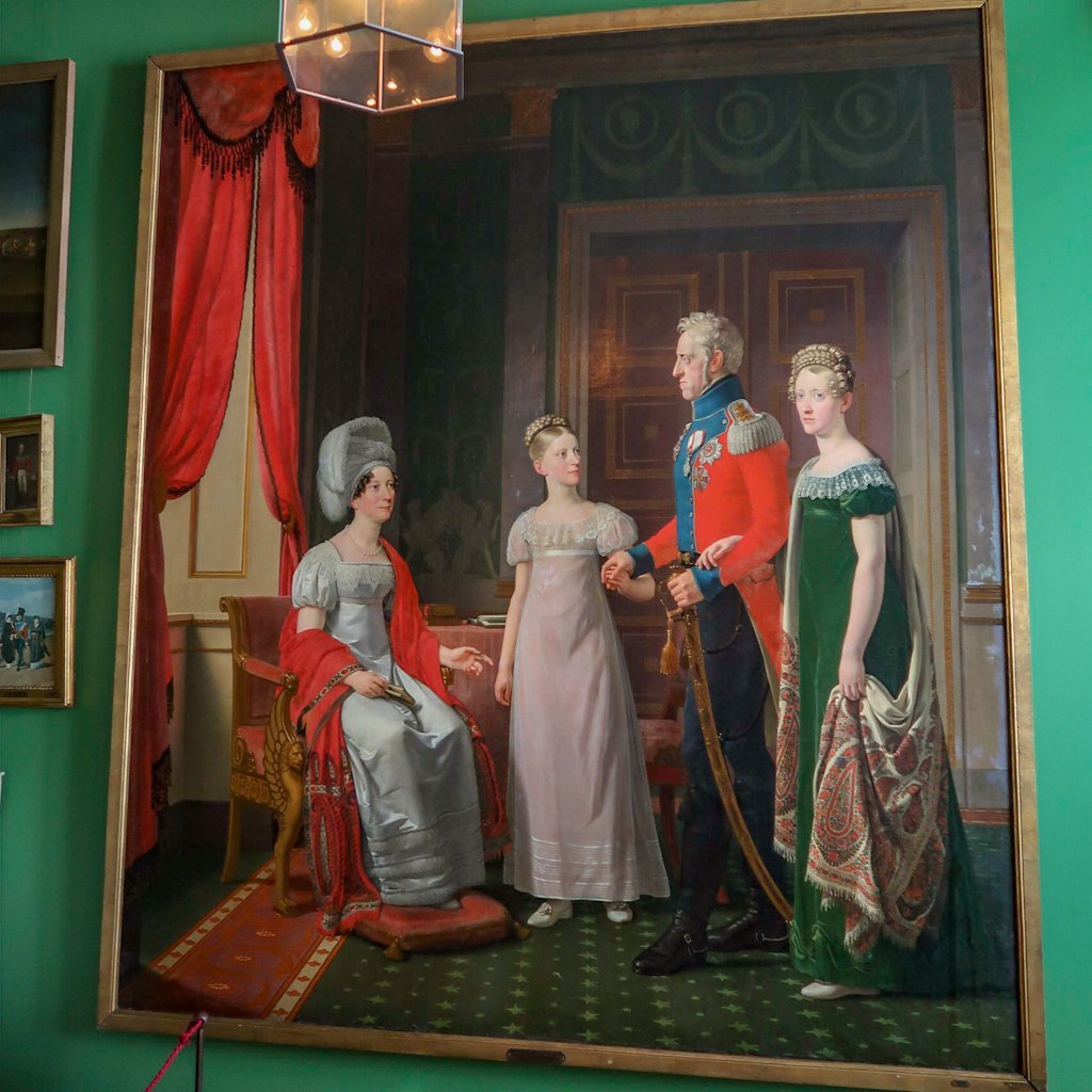 A portrait of Frederik VI and his family. I get a kick out of this picture. His eldest daughter looks like she's *so* over it.