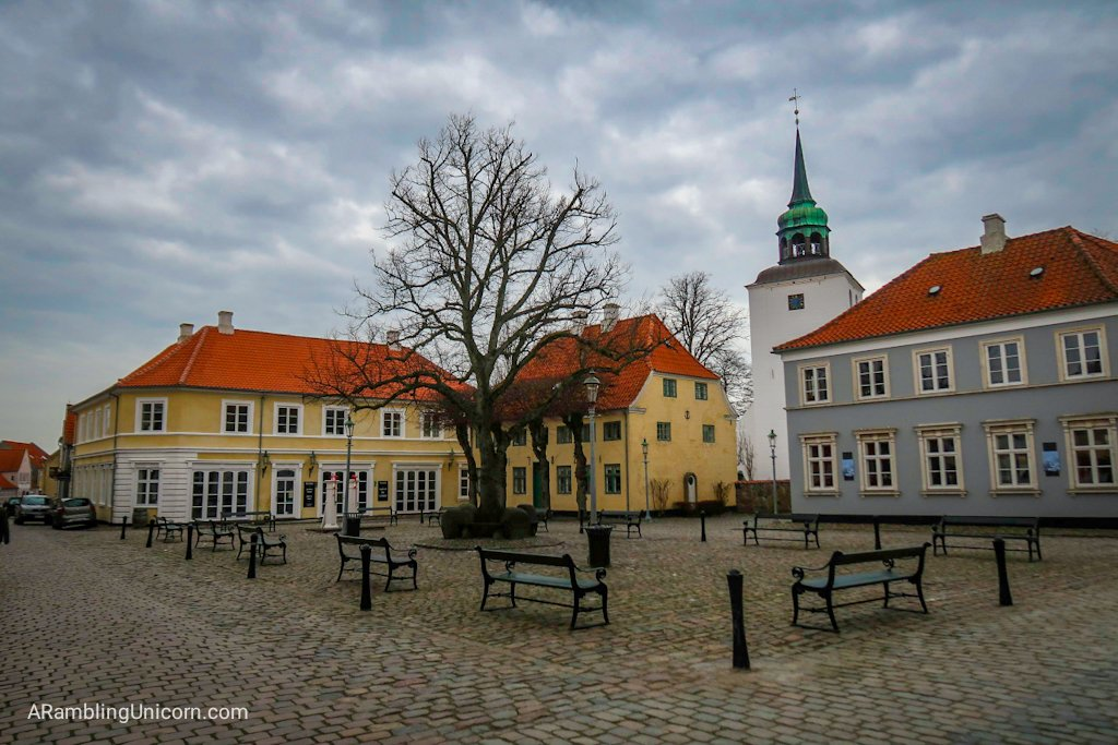 Town square in the village of Ærøskøbing