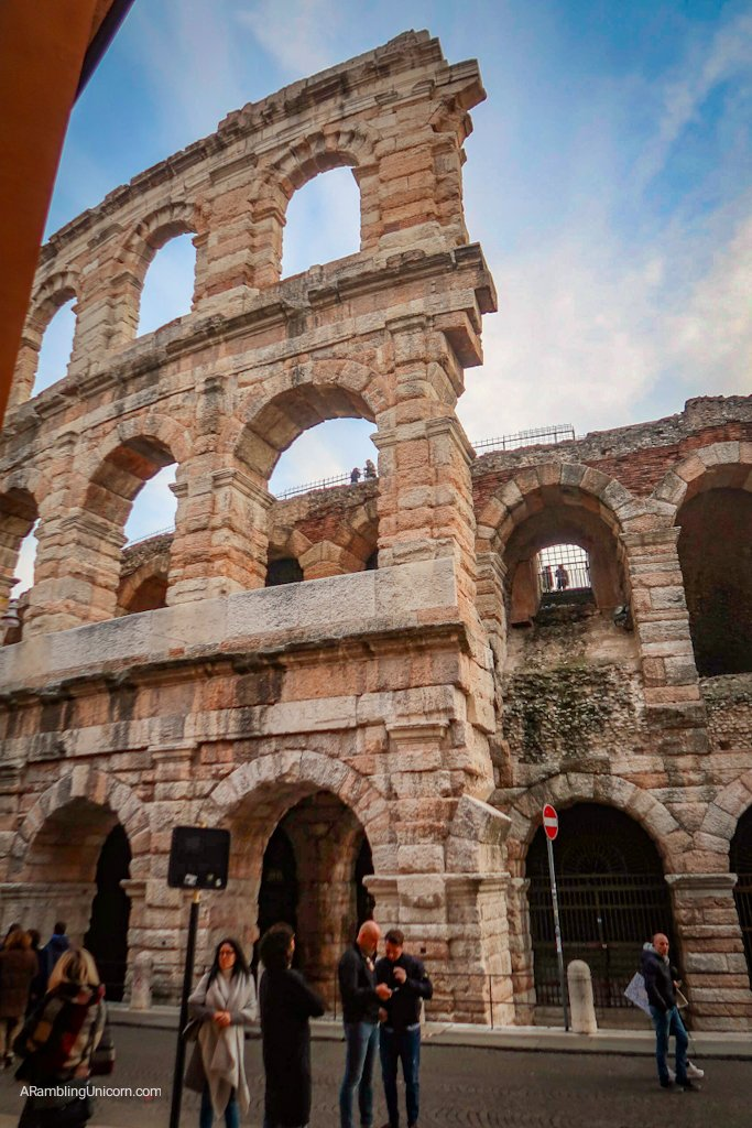 Verona in 24 Hours: The Verona Arena, remains from the outer wall
