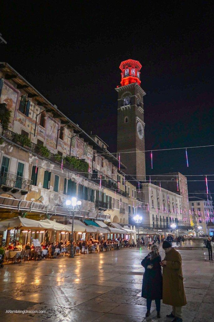 Verona in 24 Hours: Pizza delle Erbe at night