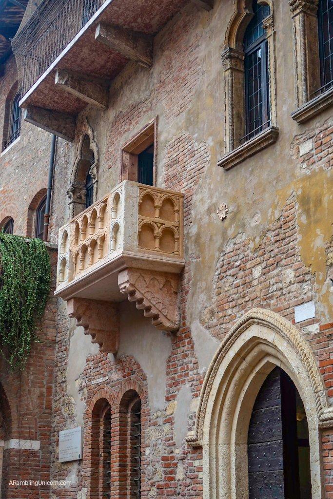 Verona in 24 hours: Juliet's Balcony. Supposedly.