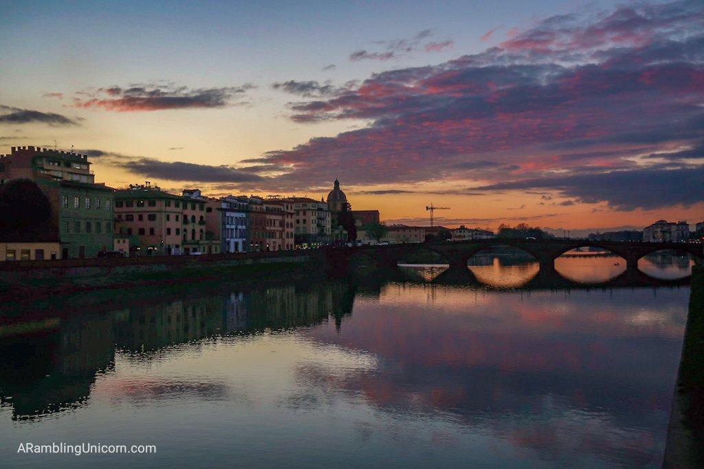 Sunset from Ponte Santa Trinita