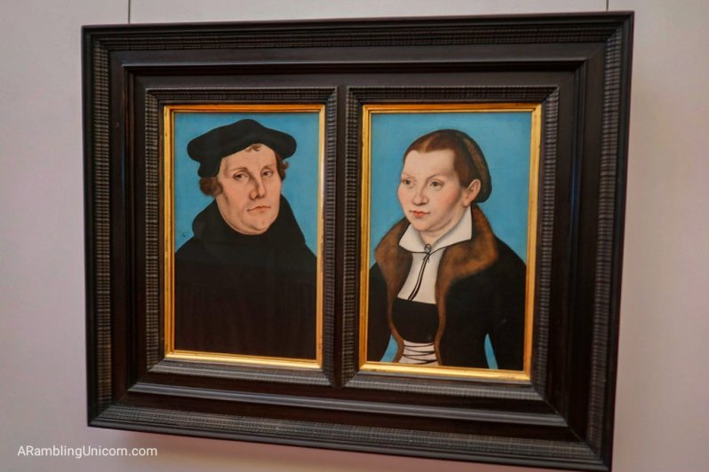 Portraits of Martin Luther and his wife Katharina, from the workshop of Lukas Cranach the Elder