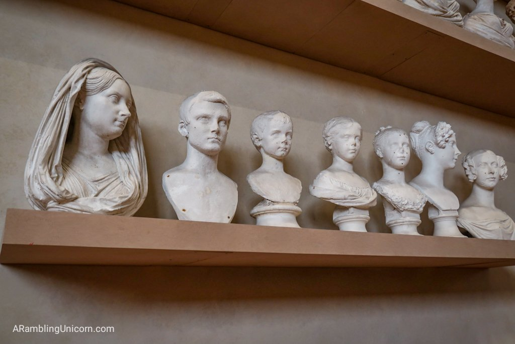 A slightly creepy collection of plaster cast sculptures in the Hall of Models. Here the gallery's origins as a teaching facility are on display.