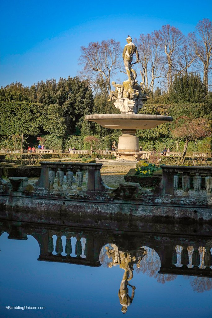 Oceanus Fountain in Boboli Gardens.