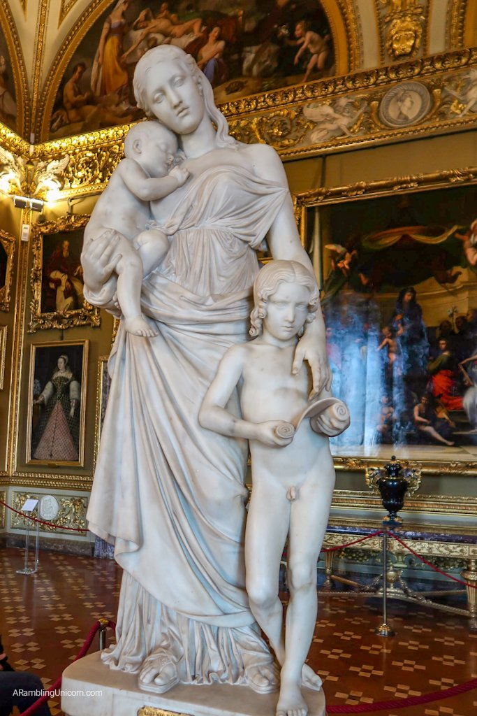 Florence 4 day itinerary: Sculpture of Charity by Bartolini