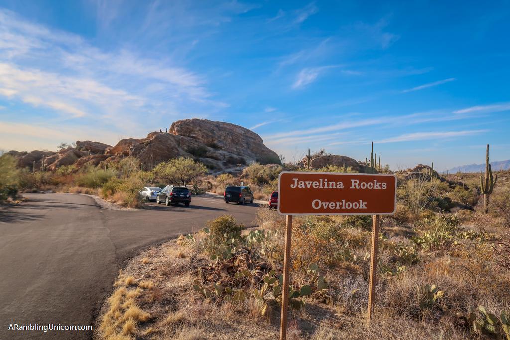 The Javelina Rocks Overlook at Saguaro National Park