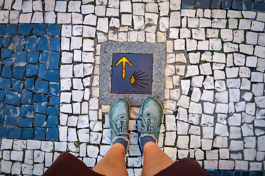 Typical Camino Route Marker in Porto