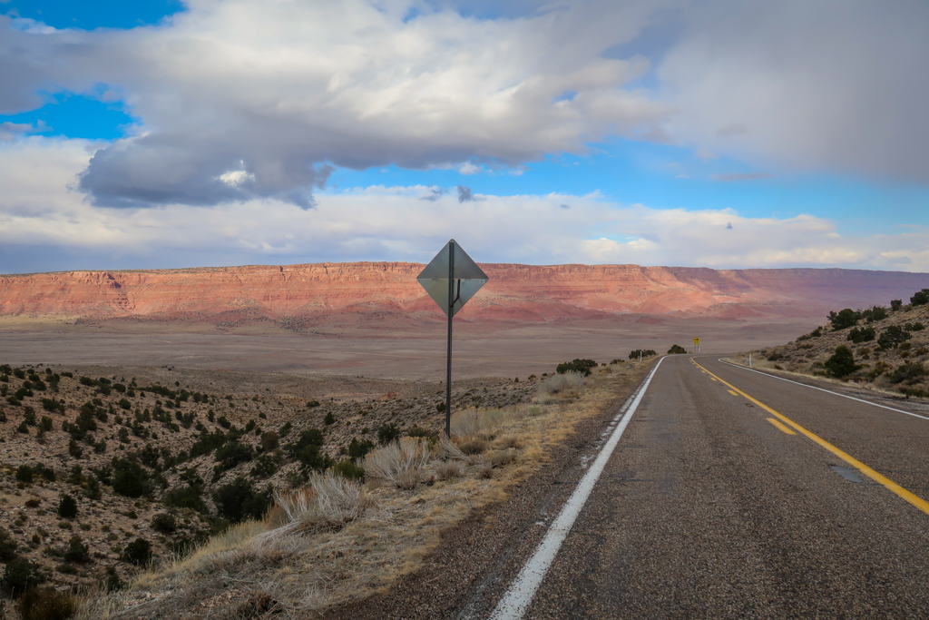 Vermillion Cliffs Scenic Highway as viewed near Pasture Canyon Lookout