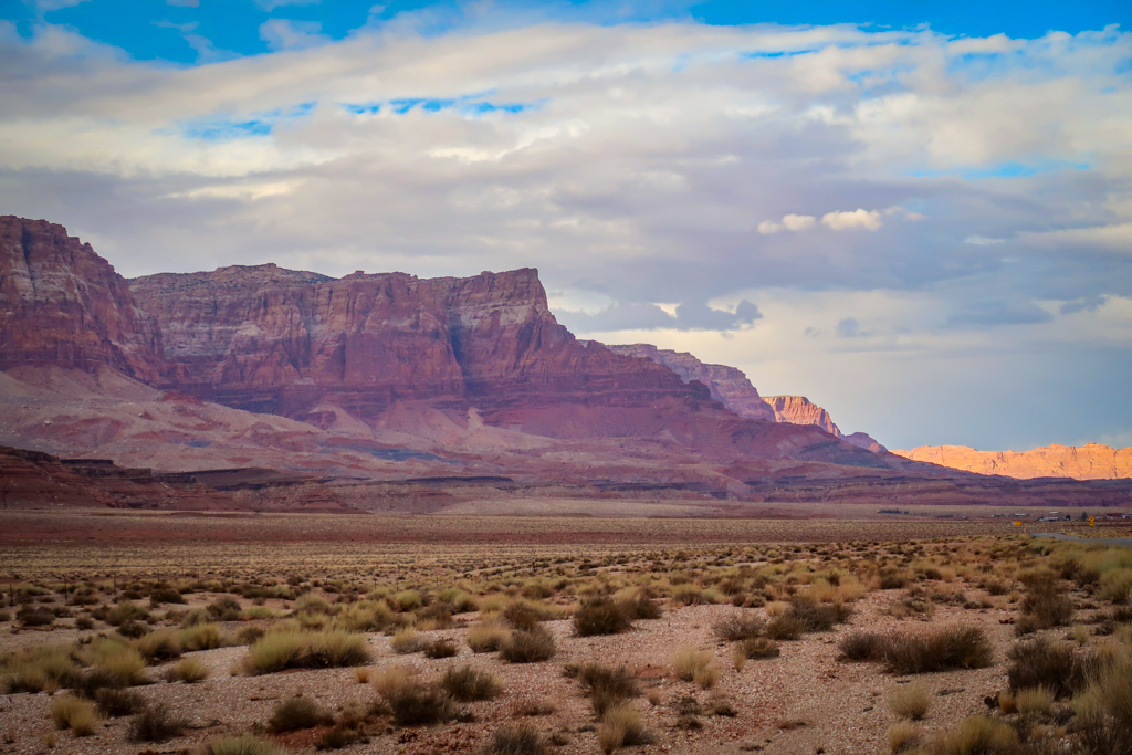 Vermillion Cliffs as viewed from Vermillion Cliffs Scenic Highway near Marble Canyon