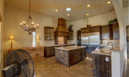 Large kitchen with all conveniences