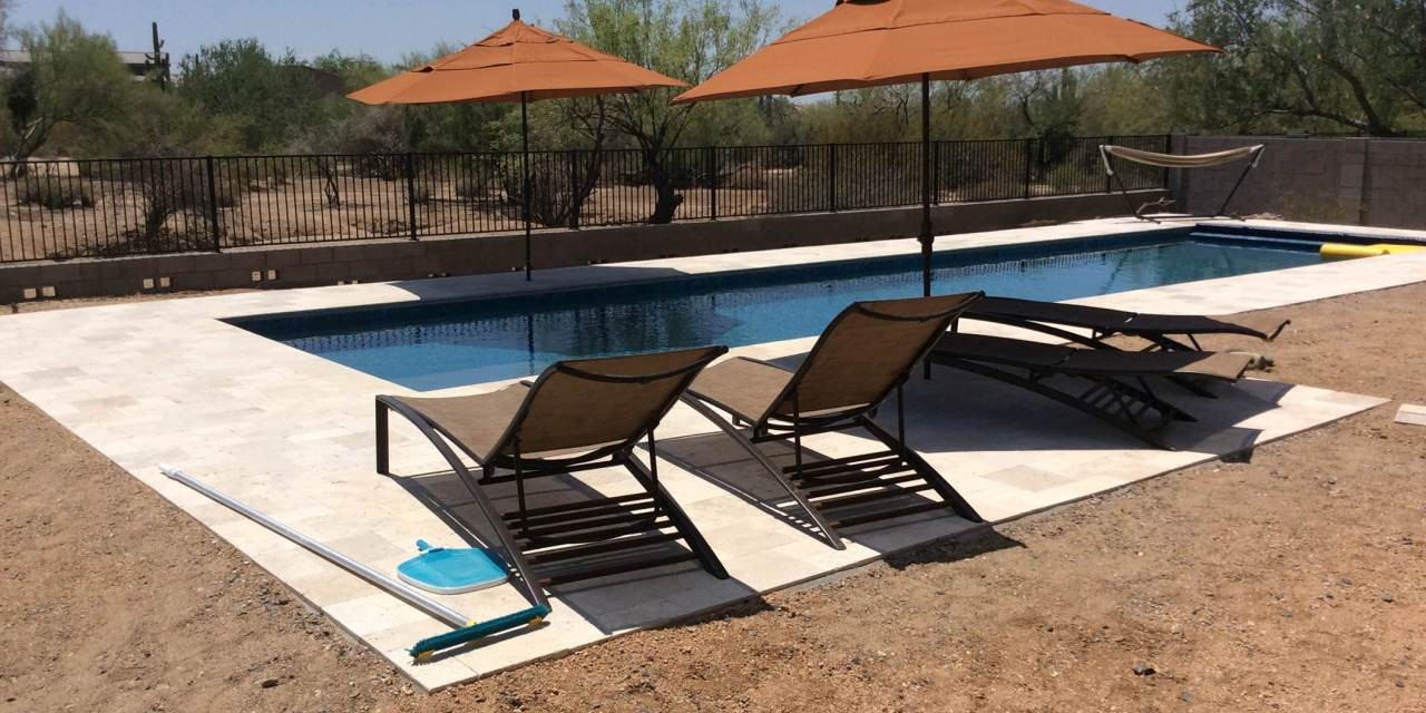 The new pool at Araminta House is fantastic