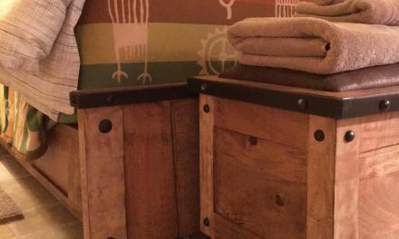 Pendleton blanket in casita