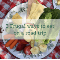 3 Frugal ways to eat on a road trip.