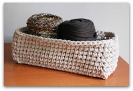 Trapillo: cesto rectangular