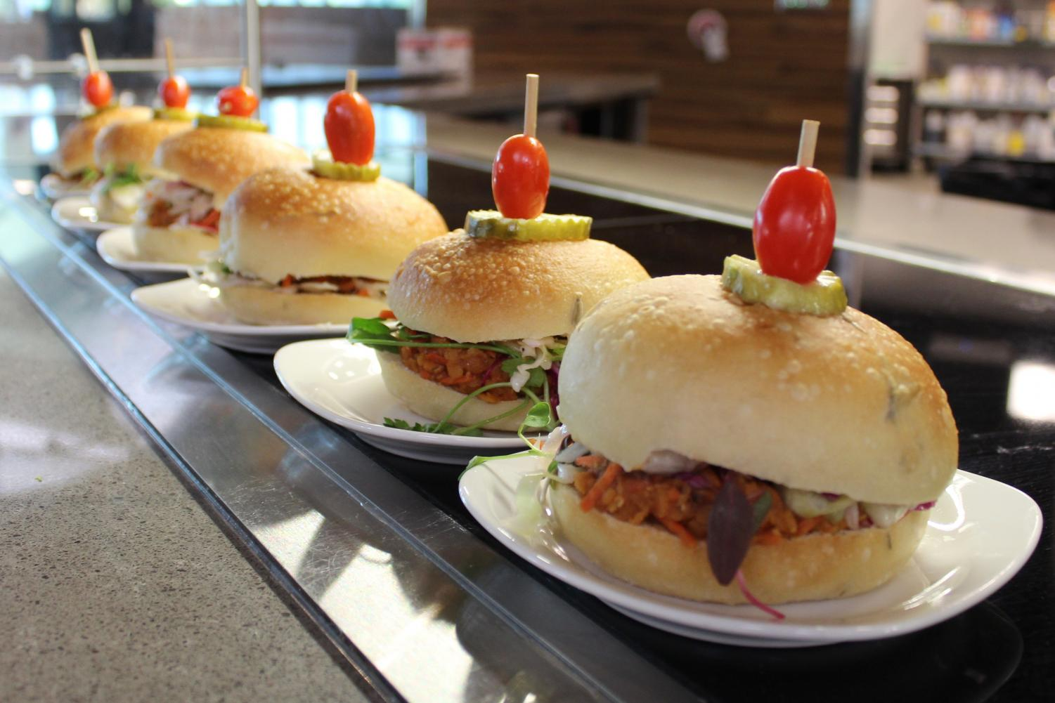 University of Colorado Boulder Campus Dining Services offered vegan barbecue sandwiches on Oct. 4, 2017 during the Forward Food Leadership Summit.