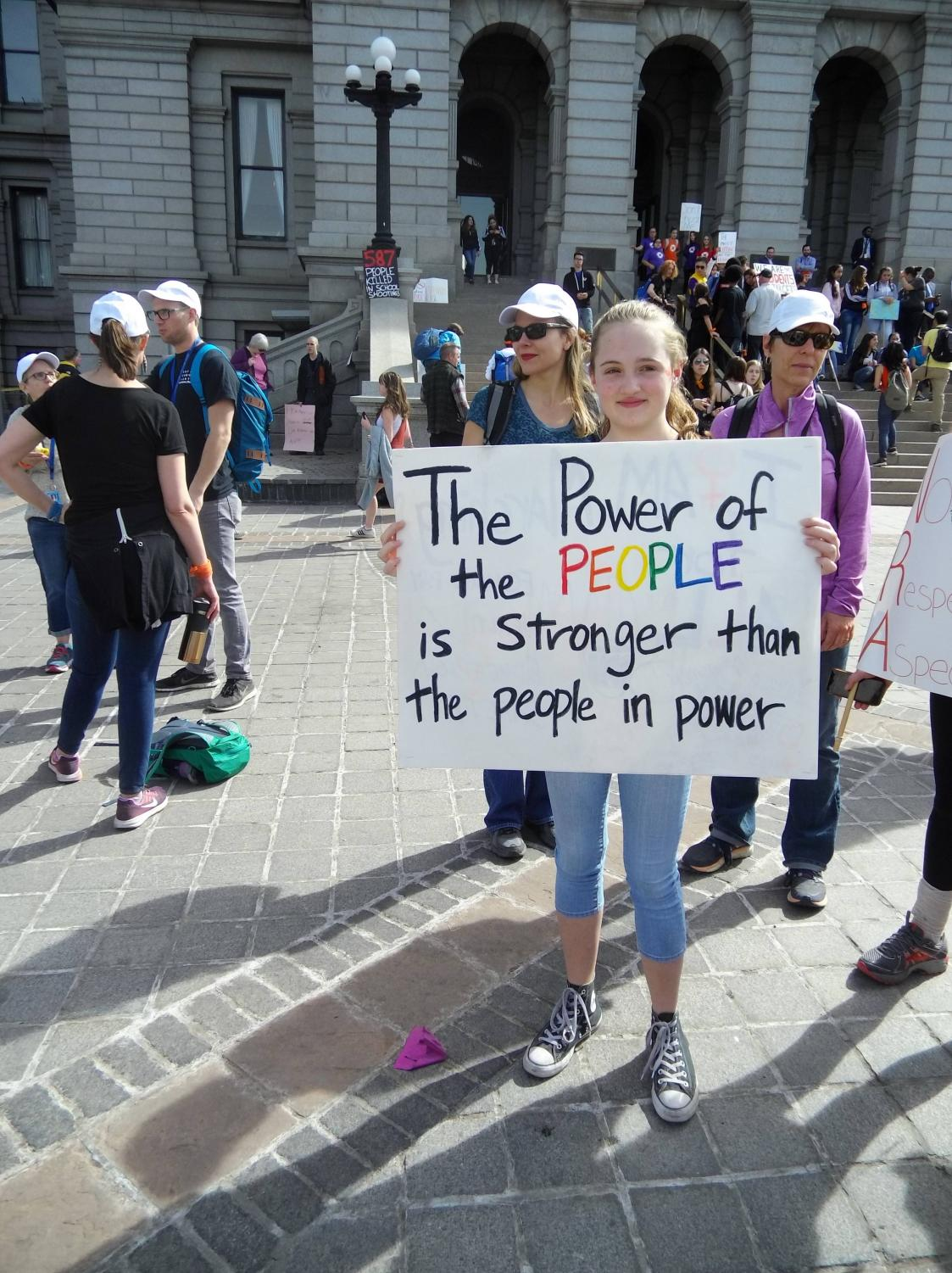 Denver, March 14. Student protester tells us where the power truly comes from.