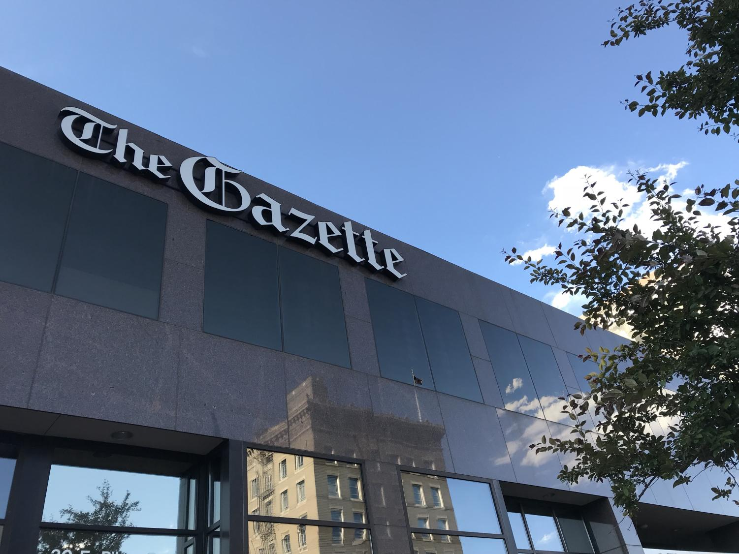 A shot of The Colorado Springs Gazette building off of Pikes Peak Ave. in Colorado Springs, June 1, 2018.