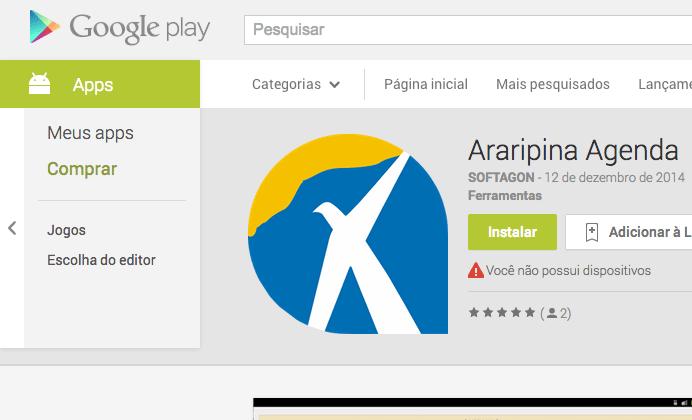 Android App Araripina.com.br