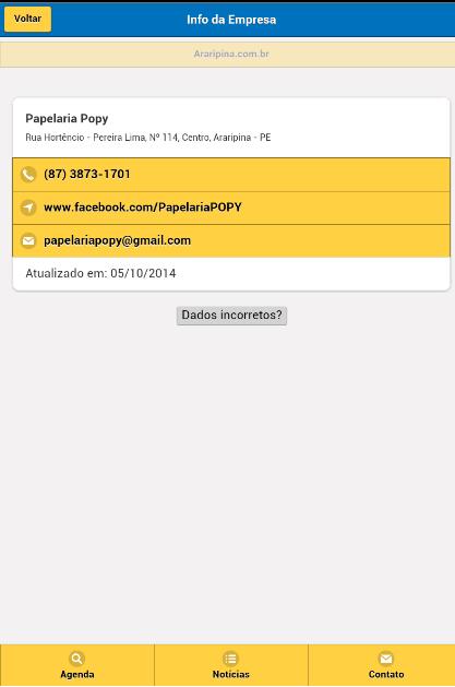 Aplicativo Agenda Telefônica de Araripina para Android