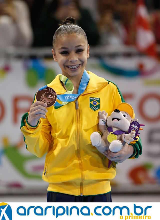 Exuense Flávia Saraiva é medalha de Bronze nos Jogos Pan-Americanos