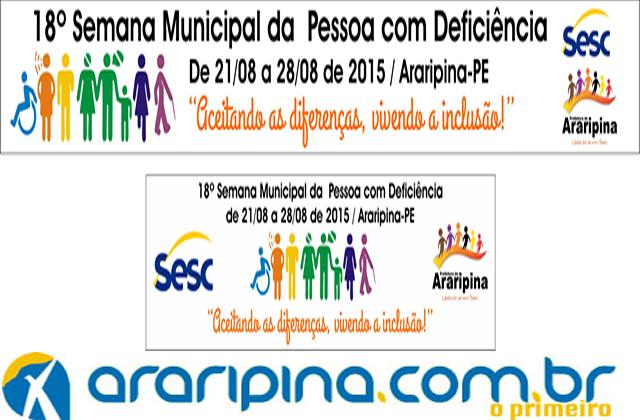 Araripina vivencia a 18º Semana da Pessoa com Deficiência