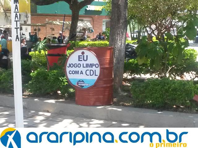 Eu Jogo Limpo com a CDL Araripina promove conscientização na dispersão do lixo