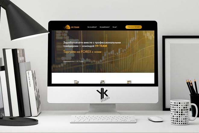 Создадим лендинг ПОД ВАШ бюджет, крутой и стильный дизайн 2