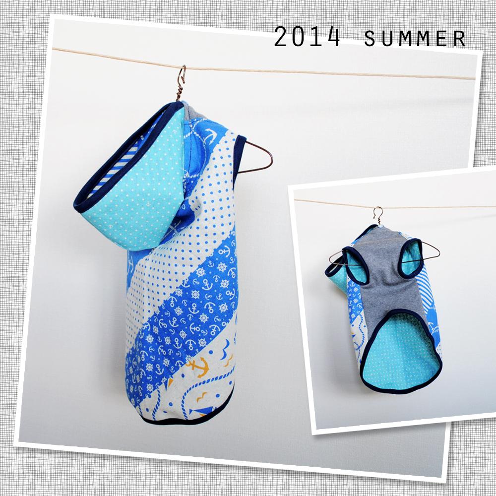 【販売開始】夏にピッタリ!アンカー ブルーの犬服「小型犬&イタグレ ウィペット」