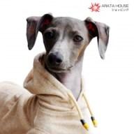 イタグレ・ウィペット犬服|愛犬と環境にやさしいオーガニックコットンパイル|ベージュ