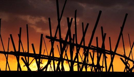 淡路島でサンセットを眺めながら。2015年3月の夕焼けと、爺さんの畑