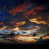 「淡路島の夕焼け」淡路島でサンセットを眺めながら。