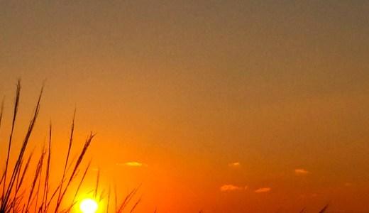 「淡路島の暮らし」綺麗な夕焼けを見ながらスーパーに行く