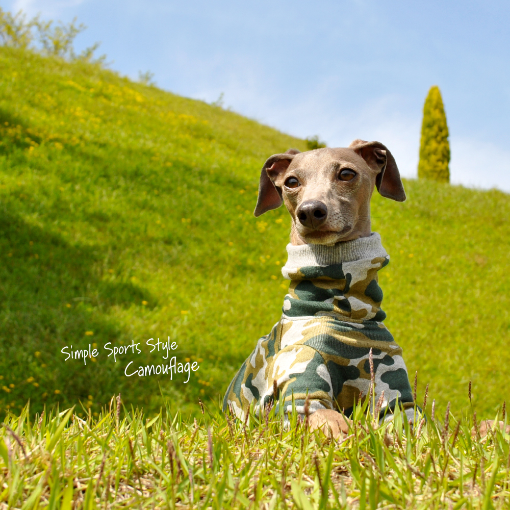 泥んこになるまで、いっぱい走ろう♪芝だらけになるまで、いっぱいゴロゴロしよう♪ Simple Sports Style Camouflage(迷彩)