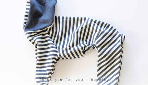 製作した犬服のご紹介 FASHION SHOW 002|「カンガルーポケットのスター☆ウエア」「杢天竺ボーダーニット」「Cool Marine Border」