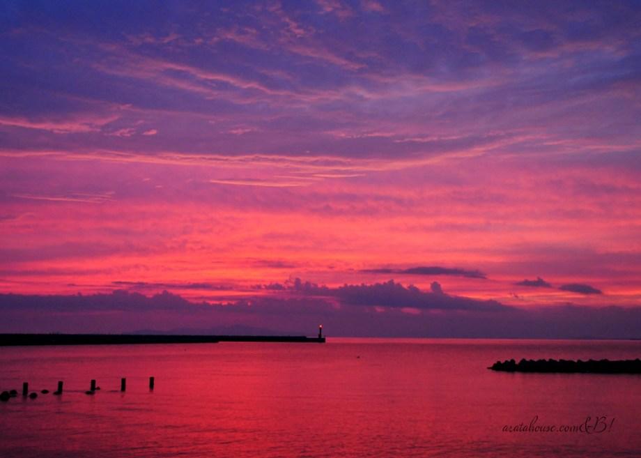 「淡路島の夕焼け」たった10分の景色の中に。