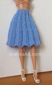 Barbie knit accordeon pleated skirt