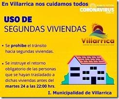 Turistas y Propietarios de Segundas Viviendas en Villarrica deben abandonar la ciudad