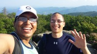 Me and my roommate @ the top
