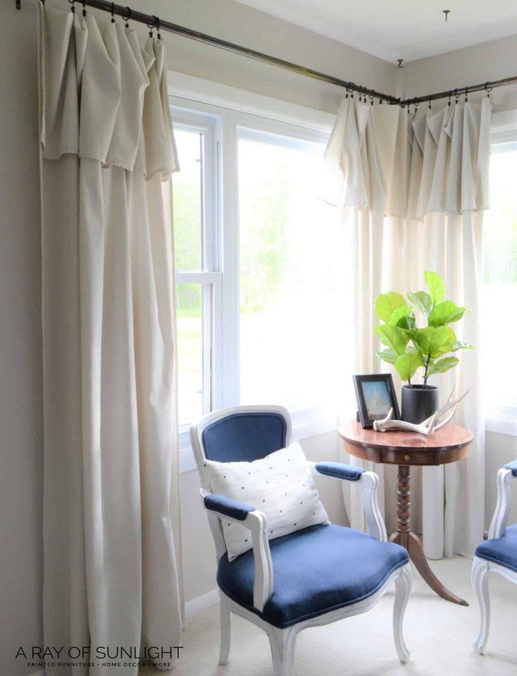 Farmhouse Drop Cloth Curtains on Farmhouse Bedroom Curtain Ideas  id=82670