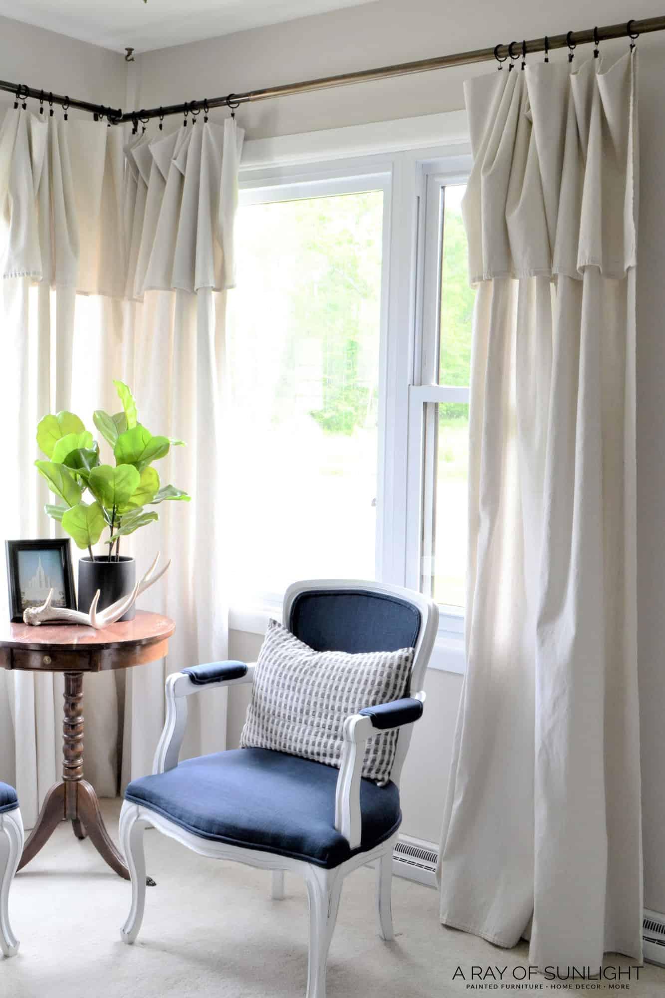 Cheap No Sew Farmhouse Curtains - A Ray of Sunlight on Farmhouse Bedroom Curtain Ideas  id=45566